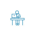 working as a freelancer linear icon concept vector image vector image