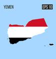 yemen map border with flag eps10 vector image
