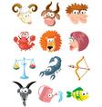 zodiac symbols vector image