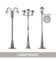 Lamp Post Set vector image