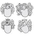 set of aristocratic emblems No2 vector image