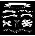 Set of hand drawn vintage ribbons and Christmas vector image