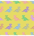 Colored dinosaurs Seamless background vector image