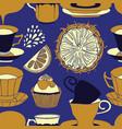 tea time pattern design vector image
