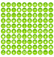 100 auto repair icons set green circle vector image vector image