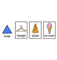 2d shape matching shape to real life object vector image vector image