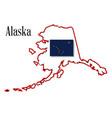 alaska state map and flag vector image vector image