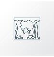 aquarium icon line symbol premium quality vector image vector image
