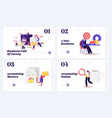 audit consulting for company website landing page vector image vector image