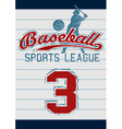 Baseball sports league vector image vector image