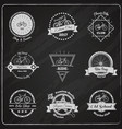 bike chalkboard emblems set vector image vector image