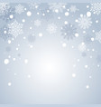 blue christmas background frame with snowflakes vector image