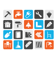 Building and home renovation icons vector image vector image