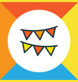 bunting icon colored line symbol premium quality vector image vector image