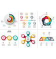 business data visualization vector image vector image