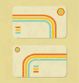 Business retro card vector image vector image