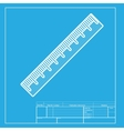 Centimeter ruler sign White section of icon on vector image vector image