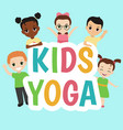 children yoga logo children yoga logo vector image