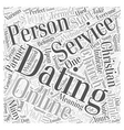 christian online dating services Word Cloud vector image vector image