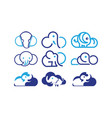 cloud and elephant vector image