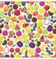 colorful fruits in seamless pattern vector image