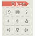 compass icon set vector image