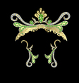 crown and earrings vector image