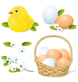 easter and spring element vector image vector image