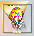 easter egg sale banner background template 15 vector image vector image