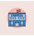 Embassy flat icon