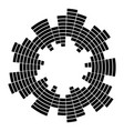 equalizer music sound wave circle symbol icon vector image