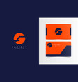 F negative space logotype with business card