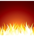 Fire Background Template for Text or Design vector image vector image