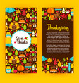 flyer template thanksgiving vector image vector image