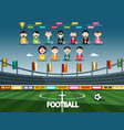 football stadium with soccer team sport vector image vector image