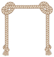 Frame made from rope isolated on white vector image vector image