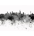 Frankfurt skyline in black watercolor on white vector image vector image