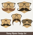 Funny hipster badges vector | Price: 1 Credit (USD $1)