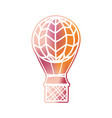 futuristic hot air balloon vector image