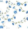 Gentle watercolor floral pattern vector image