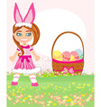 girl in bunny costume vector image vector image