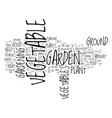 great tips on how to set up a vegetable garden vector image vector image