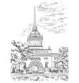 hand drawing st petersburg 2 vector image vector image