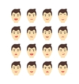 Handsome man Expressing different emotions Flat vector image vector image