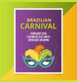 happy brazilian carnival day purple carnival vector image vector image