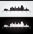 hartford usa skyline and landmarks silhouette vector image vector image