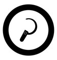 headset icon black color in circle vector image vector image
