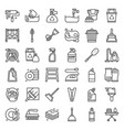housekeeping equipment related icon set vector image