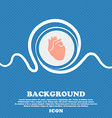 Human heart sign Blue and white abstract vector image