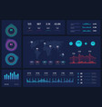 infographic template dashboard ui interface vector image vector image